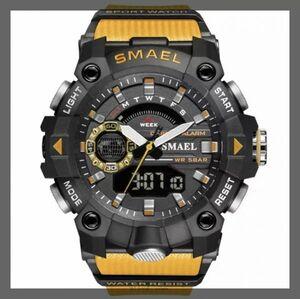 【※超特別価格1円から※】ミリタリー ウォッチ メンズ スポーツ 防水 腕時計 ストップウォッチ アラーム ledライト デジタル腕時計