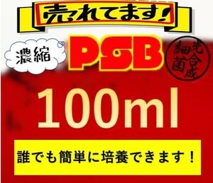 PSB 光合成細菌 100ml ★簡単培養★ 水質 メダカ稚魚 針子 メダカ ビーシュリンプ ミジンコ 熱帯魚 ゾウリムシ