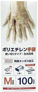 新品NISYO使いきり手袋 ポリエチレン 極うす手 Mサイズ 半透明 100枚 x2箱 使い捨て 食品衛生法適合W3A5