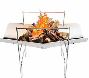 バーベキューコンロ 焚火台 BBQグリル 焚き火台 折りたたみ式 収納袋