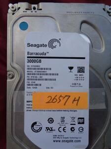 【2657H】中古良品: 2657H使用の3.5インチ3TB SATA-HDD: Seagate ST3000DM001