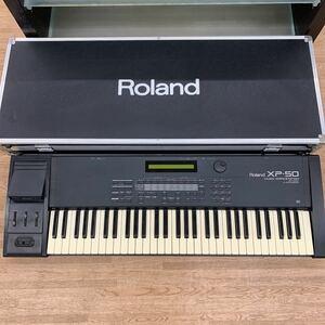 ★ジャンク品扱い★ 通電しますRoland ローランド XP-50 MUSIC WORKS STATION 64 VOICE 4X EXPANSION ケース付き