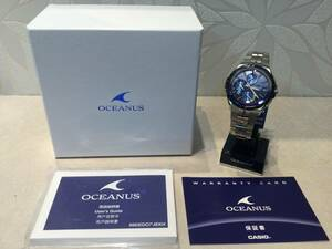 【新品】世界限定モデル OCEANUS オシアナス Bluetooth ソーラー電波 腕時計 OCW-S5000AP-2AJF☆未使用