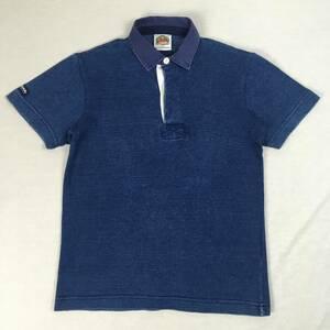 BARBARIAN バーバリアン ラガーシャツ カナダ製 レディース ブルー 半袖 コットン