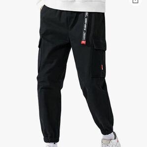 ロングパンツ メンズ カーゴパンツ ゆったり ズボン ミリタリー 無地 綿 おしゃれ 大きいサイズ