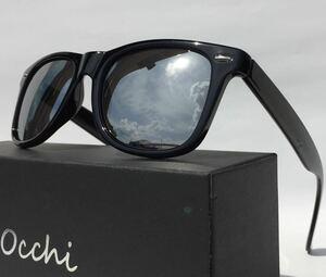 新品 OCCHI 偏光サングラス 偏光レンズUV400 軽量 シルバーミラー