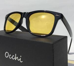 新品 OCCHI 偏光サングラス 偏光レンズUV400 軽量 イエロー