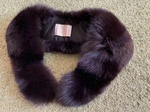 サガフォックス SAGA☆リアルファー 毛皮 ティペット フォックスファー ブラウン ストール 着物和装 成人式にも襟巻き
