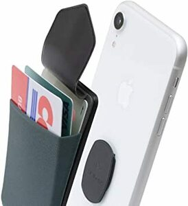 グレー Sinji Mount Flap Sinjimoru 無線充電対応 手帳型カードケース専用マウントで固定するカードホルダ