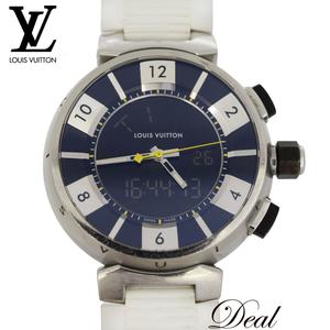 ルイヴィトン タンブールインブラック Q118F メンズ 腕時計