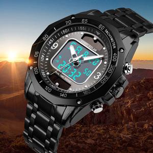 新品 デジタルフル鋼メンズ軍事腕時計時計男性 LED 【!】★トップ高級ブランドソーラー腕時計スポーツ腕時計メンズクSY64