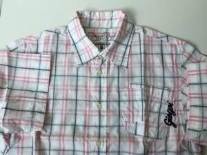 Gio-Goi シャツ 半袖 Sサイズ giogoi ギオゴイ ピンク チェック