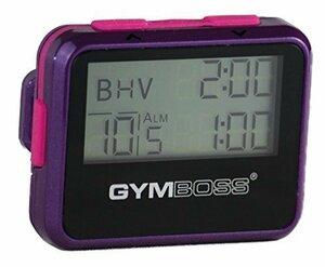新品バイオレット/ピンク Gymboss インターバルタイマーとストップウォッチ バイオレット/ピンク - メタリッR43P