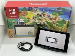 極美品 限定 2020年製 あつ森 仕様 任天堂 スイッチ 本体のみ Nintendo Switch バッテリー拡張版 外箱 完動品 どうぶつの森 本体 1円~
