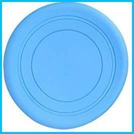 【送料無料-特価】 約17.5cm滑りにくい親のための柔らかいシリコーンのおもちゃ子供時間アウトドアスポーツ(青) ゴム製フリスビー G0431