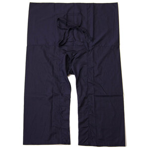 タイパンツ☆ネイビー・濃紺 フリーサイズ男女兼用 コットン ベーシック 丈 エスニックウェアアジアン 未使用新品