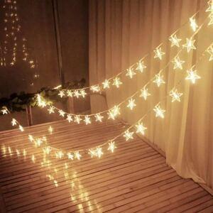 イルミネーションライト 飾り 星型 結婚式 キャンプ フェアリーライト