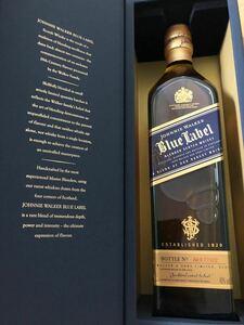 美品 750ml×1本:ジョニーウォーカー ブルーラベル 青 40% 箱付 Walker BLUE スコッチウイスキー