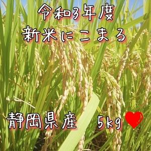 新米*令和3年度*農家直送*にこまる*5㎏*静岡県産*美味しいお米*送料無料