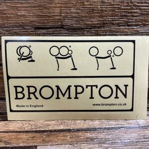 【送料込み】Brompton ブロンプトン ステッカー