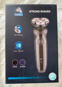 メンズ電気シェーバー ひげそり IPX7防水 水洗い/お風呂剃り可 USB充電式