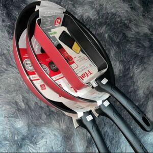 T-fal フライパン3本セット クランベリーレッド