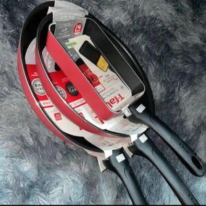 T-fal フライパン 3本セット クランベリーレッド
