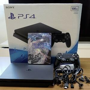 【動作良好ソフト付】PS4 CUH-2000A B01 500GB プレイステーション4 ff15deluxe edition