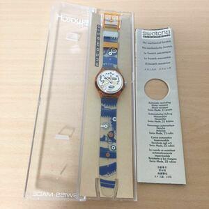 876-1208 SWATCH スウォッチ automatic メンズ レディース 腕時計 自動巻 ラバーベルト 動作確認済み