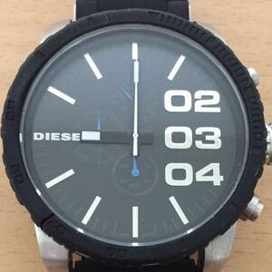 862-0024 DIESEL ディーゼル メンズ腕時計 クオーツ クロノグラフ 黒 ブラック DZ-4255 電池切れ 動作未確認 ジャンク