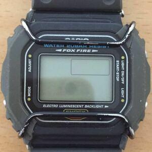 887-0074 CASIO カシオ G-SHOCK FOX FIRE アラームクロノ メンズ腕時計 ラバーベルト グレー DW-5600E 電池切れ 動作未確認 ジャンク