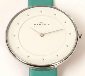 865-0084 SKAGEN スカーゲン SKW2134 レディース腕時計 革ベルト 電池切れ 動作未確認