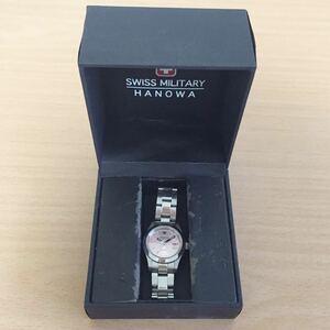 870-0068 SWISS MILITARY HANOWA スイスミリタリー ハノワ レディース腕時計 金属ベルト クオーツ 6-7023 電池切れ 動作未確認