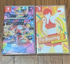 マリオカート8デラックス とFit Boxing2 新品未開封 当日発送