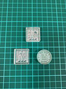 レザークラフト 刻印 アクリル 3種類