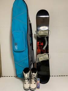 ◆ K2 ケーツー スノーボードセット スノーボードブーツ 25.0cm ケース付き