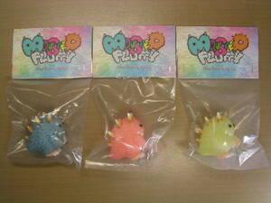 INSTINCTOY Mini Monster Fluffy 【 Pink+Blue+Yellow 】 3色セット ☆新品~未開封☆ インスティンクトイ モンスター フラッフィー