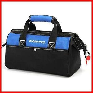 ◇ ★サイズ:13-Inch★ 600Dオックスフォード ワイドオープン WORKPRO 工具差し入れ ツールバッグ 幅33cm 工具バッグ 大口収納 道具袋