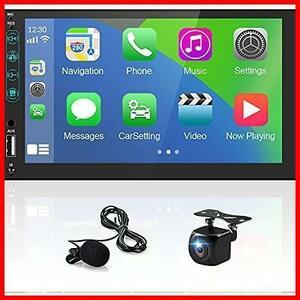 ◇ Autoに対応したダブルディンステレオ 7インチタッチスクリーンカーラジオ Android Carplay Hikity Apple &
