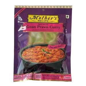o カレーペースト ゴア海老カレー 80g Mother's Recipe ゴア州のカレー インド産 賞味期限 2022.6.23