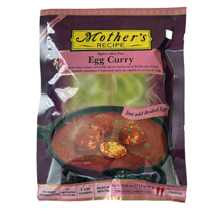 o カレーペースト 卵カレー 80g Mother's Recipeゆで卵を使って簡単に出来ます インド産 賞味期限2022.6.23