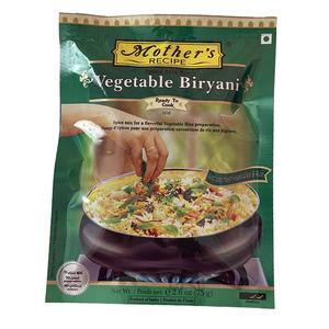 o カレーペースト ベジタブルビリヤニ 75g Mother's Recipeお米は炊いてから混ぜても一緒に炊いてもいいです インド産 賞味期限2022.6.23
