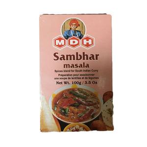 サンバーマサラ ( サンバルマサラ ) パウダー 100g カレースパイス MDH (ネコポス対応/箱を少し折って出荷)インド産 賞味期限2023.1