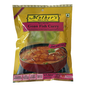 カレーペースト ゴア 魚カレー 80g Mother's Recipe ゴア州のカレー 本格派インドカレー インド産 賞味期限 2022.6.23