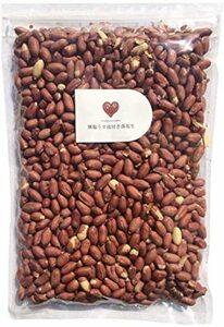 特別価格!無塩うす皮付き落花生 1kg 国内加工 ピーナッツ 南京豆 業務用GWHZ