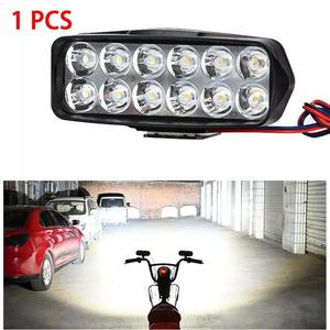 LED バイク ヘッドライト 12LED スポットライト フォグライト atv スクーター 照明