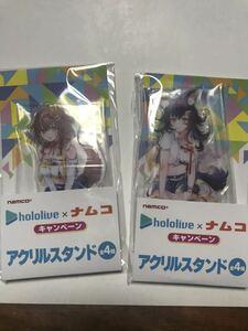 【1円~】(ナムコ 限定)ホロライブ 大神ミオ・戌神ころね アクリルスタンドセット hololive