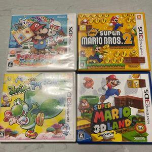 任天堂3DSゲームソフト4本セット ヨッシー マリオ
