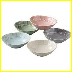 西海陶器 美濃焼 ボウル 皿 楕円小鉢 約15×13cm 5枚セット 淡 -tang- 日本製 19901