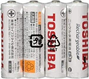 東芝 充電式ニッケル水素充電池 単3形(4本入り) 繰返し充電1000回 TNH-3ME(WB) 4P